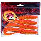 Angel-Berger Wild Devil Baits Tornado Gummifisch Twister Softbait Shad Gimmiköder (Red Devil, 8cm)