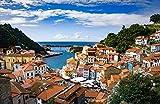 España Cudillero Asturias Roof Bay Houses CitiesAdult Puzzle niños 1000 Piezas Juego de Rompecabezas de Madera Regalo decoración del hogar Recuerdo de Viaje Especial