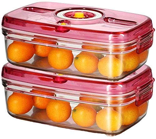 Storage jar Keuken Storage Box Voedsel Container van de Opslag - 2 Sets Vacuum - food grade materiaal - Storage Box Student Portable Fruit Box -Opslag doos keuken (Size : 1000ml)