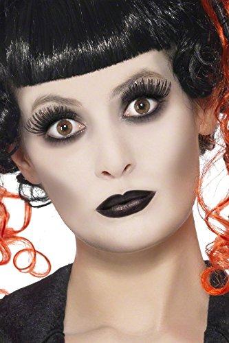 COOLMP – Juego de 12 – Kit de Maquillaje gótico para Adulto Halloween – Talla única – Maquillaje de Fiesta, Pelo, Piel, Labios, Ojos, Carnaval, Fiesta de Disfraces, cumpleaños,