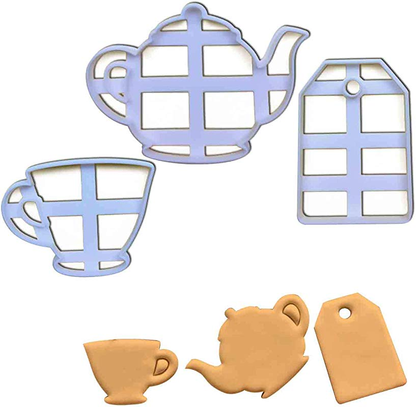 SET Of 3 Cookie Cutters Teabag Teacup And Teapot 3 Pcs Ideal For High Tea Party