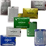Probably the Best Stocking Stuffer You Can Buy , RFID Blocking Chip credit Protector Sleeves with TipTable- -Organized 5 colors -Each Metallic sleeve holds and protects 2 cards and 5 bills.