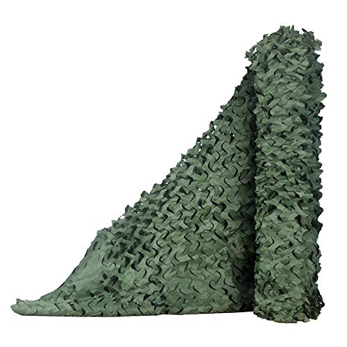 QIANGDA Camouflage Net Camo Netting Woodland Military Hunting Shooting Sunscreen Nets For Dens Hide Bedroom Green Custom Sizes Size 15x4m