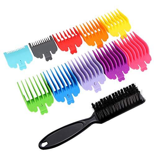 10 peines guía para cortadora de cabello, 10 tamaños, peines para cortadora de cabello con cepillo peines para cortar el cabello, accesorios para cortar el cabello, peines para cortadora de cabello