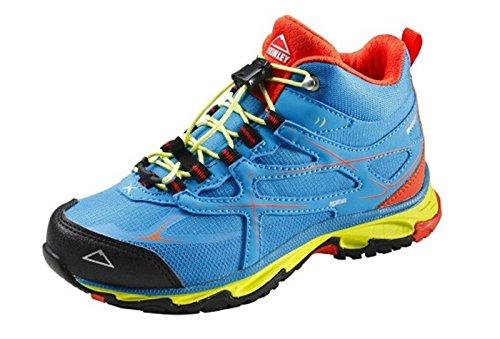 McKINLEY Unisex-Kinder Evosome MID Aquamax Trekking- & Wanderstiefel, Blau (Blue/Red/Green 904), 33 EU
