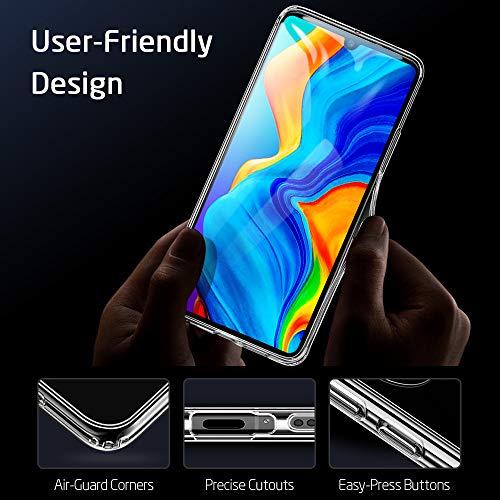 ESR Glashülle kompatibel mit Huawei P30 Lite - 9H Hartglas Handyhülle mit dualer Rückseite - Kratzfeste Schutzhülle mit weichem TPU Bumper für Huawei P30 Lite - Klar - 8