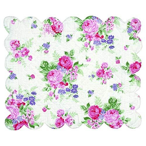 GreenGate QUIPLAC35ROS0106 Rose Tischset gewellt White 45 x 35 cm (1 Stück)