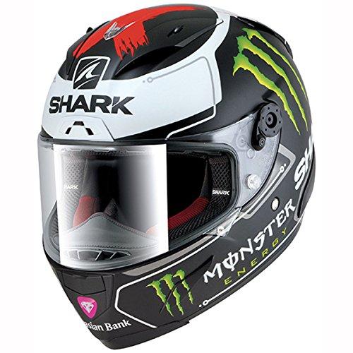 Shark Motorrad-Helm race-r Pro Lorenzo Monster, Schwarz/Weiß, Größe S