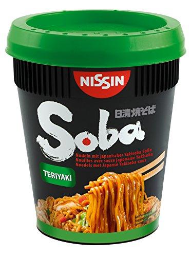 Nissin Cup Noodles Soba Cup – Teriyaki, 1er Pack, Wok Style Instant-Nudeln japanischer Art, mit Teriyaki-Sauce und Gemüse, schnell im Becher zubereitet, asiatisch Essen (90 g)