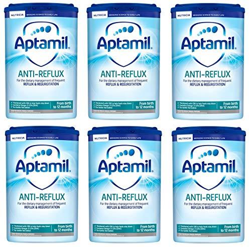 Aptamil Anti Reflux First Infant Milk Powder from Birth Onwards (800g) - Pack of 6