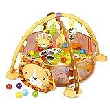 Krabbeldecke Mit Spielbogen Und Bällen | 3in1 Baby Erlebnisdecke Spielmatte Activity Gym | Lernmatte