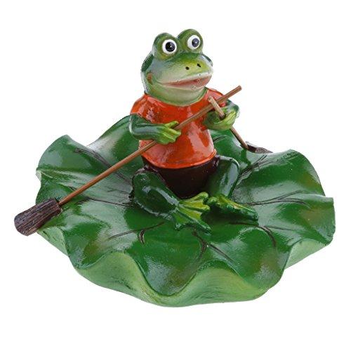 Joysiya Water Floating Lotus Leaf with Frog Ornament