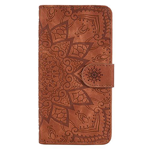 DEHF010320 - Funda de piel tipo cartera para Samsung Galaxy Note 10 (función atril), color marrón