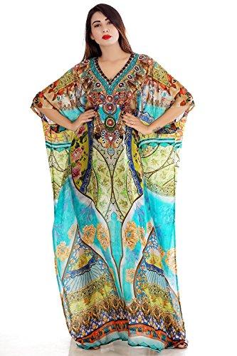 Heavily emblleshed maxi beach caftan long dressy/silk kaftan beach and resort wear hand made latest elegant kaftan fashion plus woman