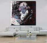 XQWZM Leinwand Malerei Hd Poster, Beethoven Von Andy Warhol