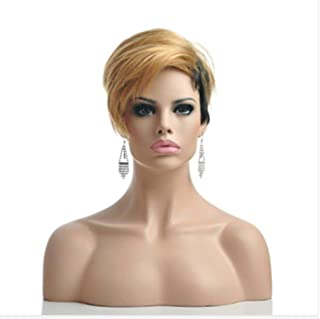 HAIRJOY Woman Synthetic Wigs Natural Black Hair Wig 6 Colors Available,blonde black,8inches