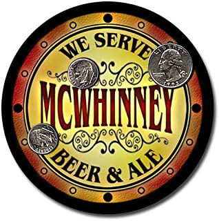 ZuWEE Brand Beer & Ale Coaster Set Personalized with the Mcwhinney Family Name