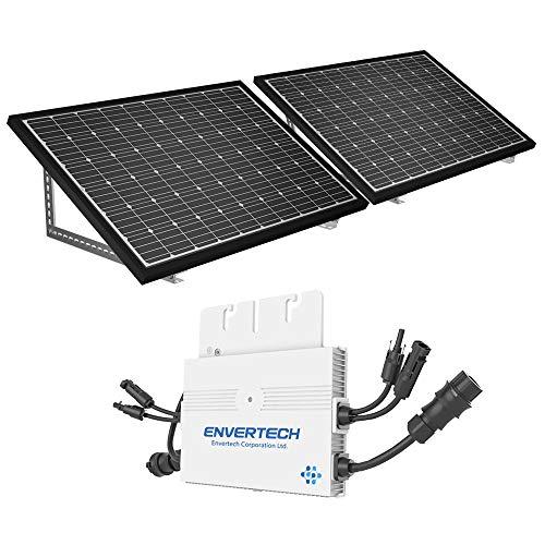 Mini Solaranlage 600 Watt Solarstrom für Eigenverbrauch | Plug & Play Komplettset | Montagematerial für Fassade | solar-pac PV