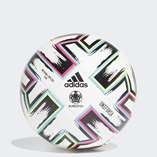 adidas Uniforia League Soccer Ball White/Black/Signal Green/Bright Cyan 4