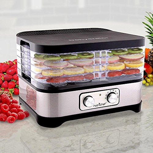 Purchase Multi Tier Food Dehydrator Machine - 250 Watt Professional Stainless Steel Electric Food Pr...