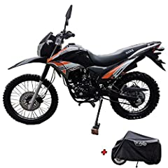 Hawk 250 Enduro dirt bike brought by Moto Pro and with free X-PRO Motorcycle cover. A stylish high performance exhaust pipe included on this bike is design to enhance both performance and style to the bike! Front 80/100-21 and Rear 110/100-18 Fat Tir...
