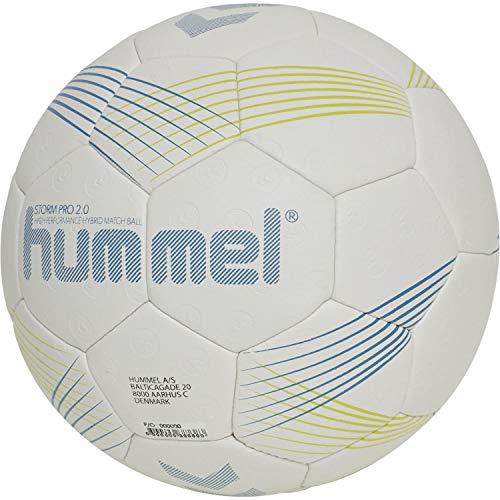 hummel Unisex-Adult Storm PRO 2.0 HB Handball, Light Grey/Blue, 2