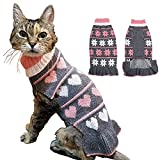 BABAHU Fashion Pet Sweater Turtleneck Cats Dogs Pullover Knit Hole Fall Winter Warm Small Pet Sweater Cute,Grey,X-Small