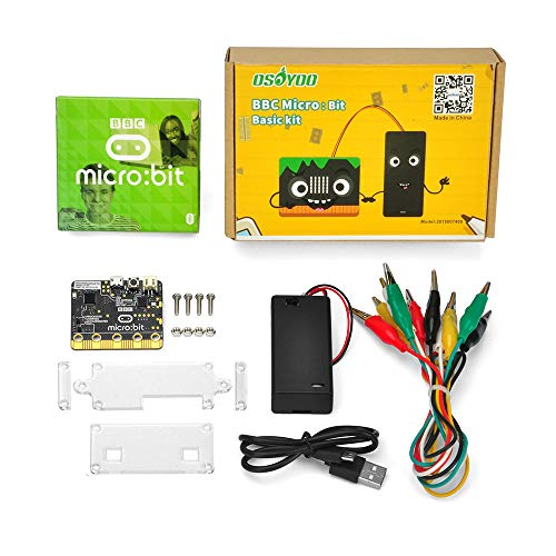 OSOYOO micro-controller with motion detection, compass, LED display and Bluetooth Basic kit learn programming for BBC Micro:bit for kids and beginners not include 2x AA batteries
