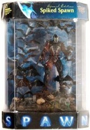 1998 Spawn Action Figure - Special Edition Spiked Spawn in Tank Display Case by McFarlane Toys
