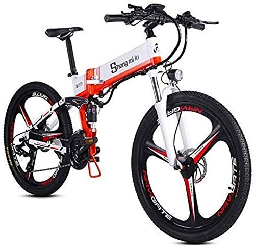 RDJM Bici electrica Bicicletas eléctricas rápidas for Adultos de 26 Pulgadas Plegable Montaña Bicicleta eléctrica Bicicleta eléctrica