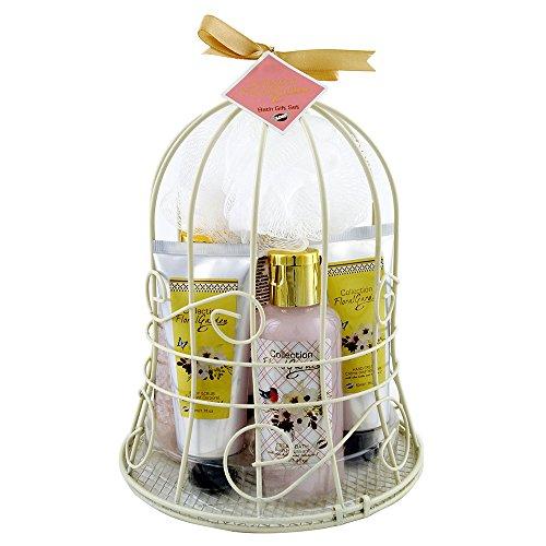Gloss! Floral Garden Cloche de Bain en Métal Fleur de Pivoine/Patchouli 7 Pièces, Coffret Cadeau-Coffret de bain