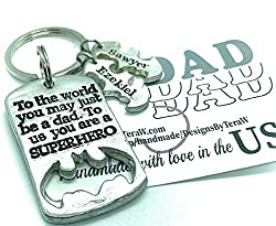 Personalized Father's Day Gifts-Superhero keychain