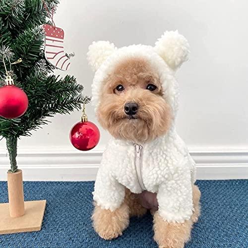 Disfraz de oso de peluche para perro,Disfraz de perro con capucha para...