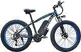 CASTOR Bicicleta electrica Bicicletas de montaña eléctricas de 26 Pulgadas, 48V 1000W Bicicletas 21 Velocidad para Adultos Bicicleta 4.0 Neumáticos Gruesos Deportes Ciclismo al Aire Libre