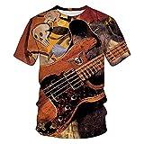 Camiseta Hombre Moderna Urbana Personalidad Creativa Novedad 3D Llama Hombre Shirt Verano Básica Cuello Redondo Regular Fit Manga Corta Cómodo Transpirable Casuales Camisa TD02 5XL