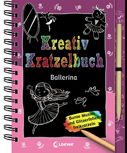 Kreativ-Kratzelbuch: Ballerina