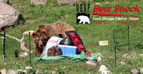 Bear Shock UDAP Portable Electric Food Storage Fence for Bears (mesh/net Fence)