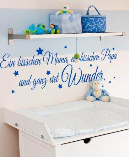 Wandtattoo Ein bisschen Mama, ein bisschen Papa und ganz viel Wunder.
