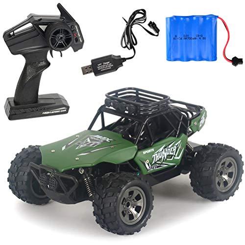 Amiispe Coche RC 1:18 de alta velocidad, coche de carreras de 20 km/h, mando a distancia eléctrico para niños