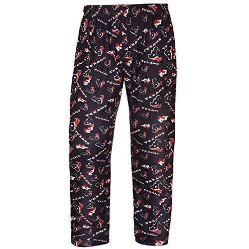 FOCO NFL Houston Texans Mens Repeat Logo Print Polyester Sleepwear Pantsrepeat Logo Print Polyester Sleepwear Pants, Team Color, X-Large