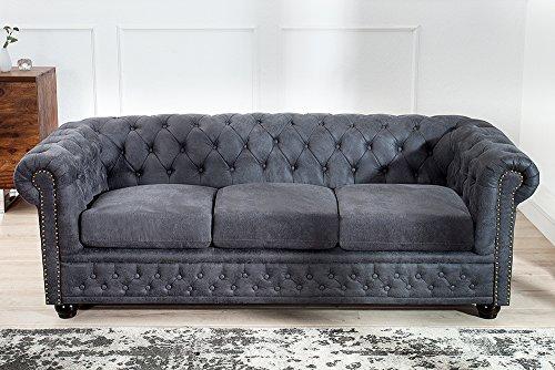 Edles Chesterfield 3er Sofa-200222104023