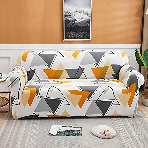 MKQB Funda de sofá elástica elástica geométrica, Funda de sofá Modular de Esquina en Forma de L para Sala de Estar, Antideslizante, Funda de Almohada n. ° 12 Envuelta herméticamente