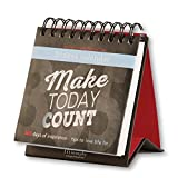 Fitlosophy 'Make Today Count' 365-Day Inspirational Perpetual Desk Calendar, Fitdesk 365-Day Perpetual Calendar (FITDESK-Cal)