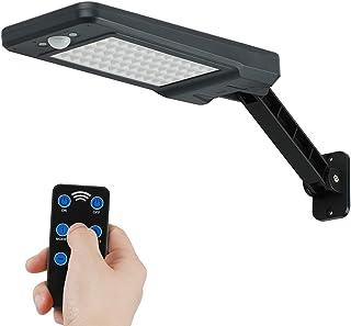 comprar comparacion Lámpara de pared solar, 60 leds, 900 lm, para exteriores, sensor de movimiento solar, luces de seguridad a prueba de agua ...