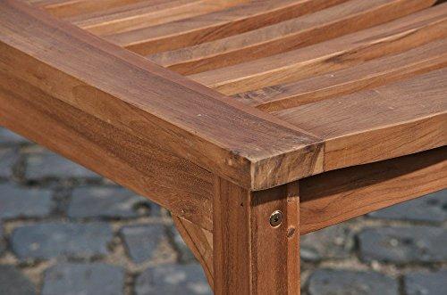 CLP Teakholz Garten-Bank HAVANA V2 ohne Lehne, Teak-Holz massiv (bis zu 8 Größen wählbar) 240 x 45 x 45 cm - 6