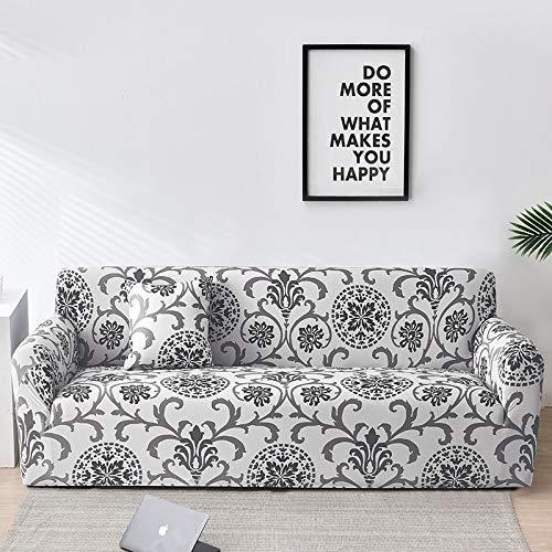 WXQY Fundas de celosía geométrica Funda de sofá elástica Funda de sofá de protección para Mascotas Funda de sofá con Esquina en Forma de L Funda de sofá con Todo Incluido A13 1 Plaza