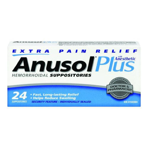 ANUSOL PLUS 24 Hemorrhoidal SUPPOSITORIES