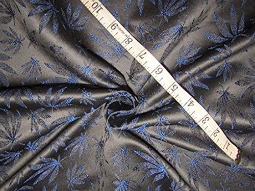 The Yard - Tela de brocado de seda, color negro y azul real, 58 pulgadas BRO741[2]