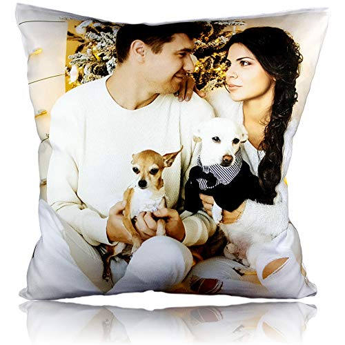 Personalised Cushion Printed Photo Collage Gift Custom Made Large Print + Filling FREE (16' x 16')
