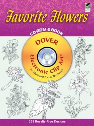 Compare Textbook Prices for Favorite Flowers CD-ROM and Book Dover Electronic Clip Art  ISBN 0800759995134 by Dover